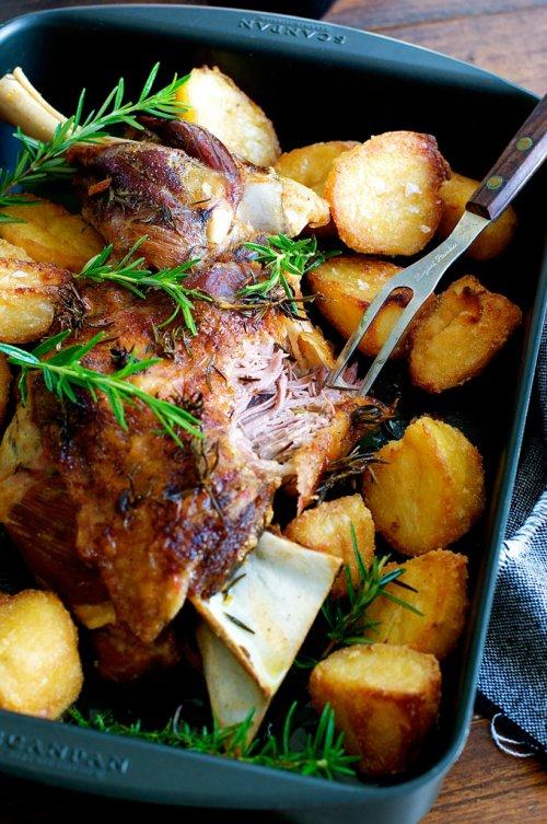 Cordero al horno con patatas